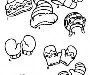 Coloriage et dessins gratuit Des Vêtements pour se chauffer en Hiver à imprimer