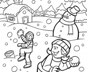 Coloriage dessin  Hiver Maternelle 13
