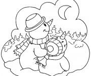 Coloriage dessin  Hiver Maternelle 18