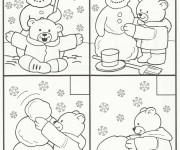 Coloriage dessin  Hiver Maternelle 19