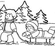 Coloriage dessin  Hiver Maternelle 2