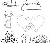 Coloriage dessin  Hiver Maternelle 3