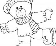 Coloriage dessin  Hiver Maternelle 4