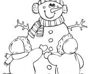 Coloriage dessin  Hiver Maternelle 5
