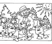 Coloriage dessin  Hiver Maternelle 8
