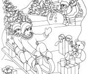 Coloriage et dessins gratuit Hiver Maternelle de Noel à imprimer