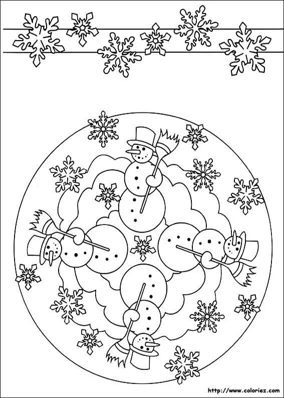Coloriage mandala hiver maternelle dessin gratuit imprimer - Coloriage mandala maternelle ...