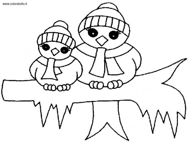 Coloriage et dessins gratuits Pingouins en Hiver maternelle à imprimer