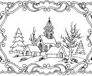 Dessiner en ligne vos coloriages préférés de Hiver Neige