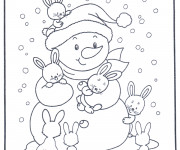 Coloriage Hiver Neige