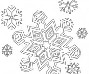 Coloriage Flocon de Neige 9