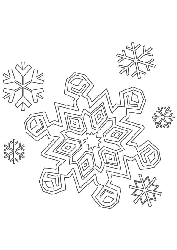 Coloriage et dessins gratuits Flocon de Neige 9 à imprimer