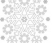 Coloriage Flocon de Neige par tout