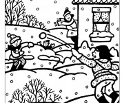 Coloriage Hiver Neige 14