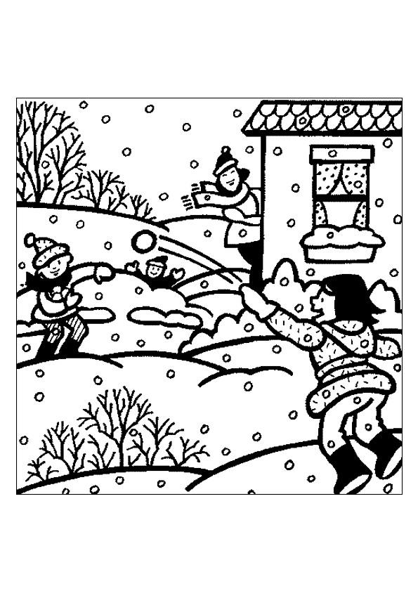 Coloriage et dessins gratuits Hiver Neige 14 à imprimer