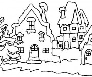 Coloriage Hiver Neige 27