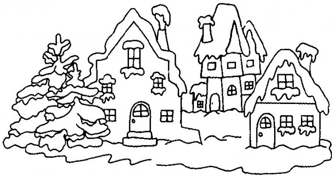 Coloriage et dessins gratuits Hiver Neige 27 à imprimer