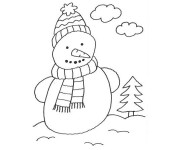 Coloriage Hiver Neige 30