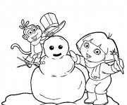 Coloriage Hiver Neige 32