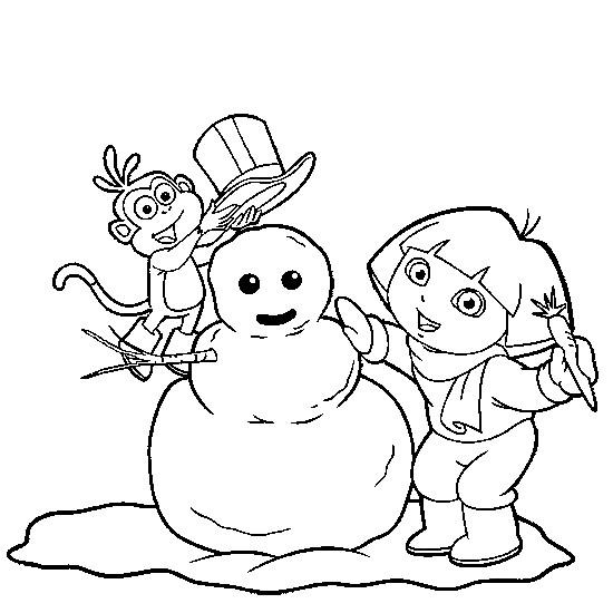 Coloriage et dessins gratuits Hiver Neige 32 à imprimer