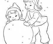 Coloriage Hiver Neige 33