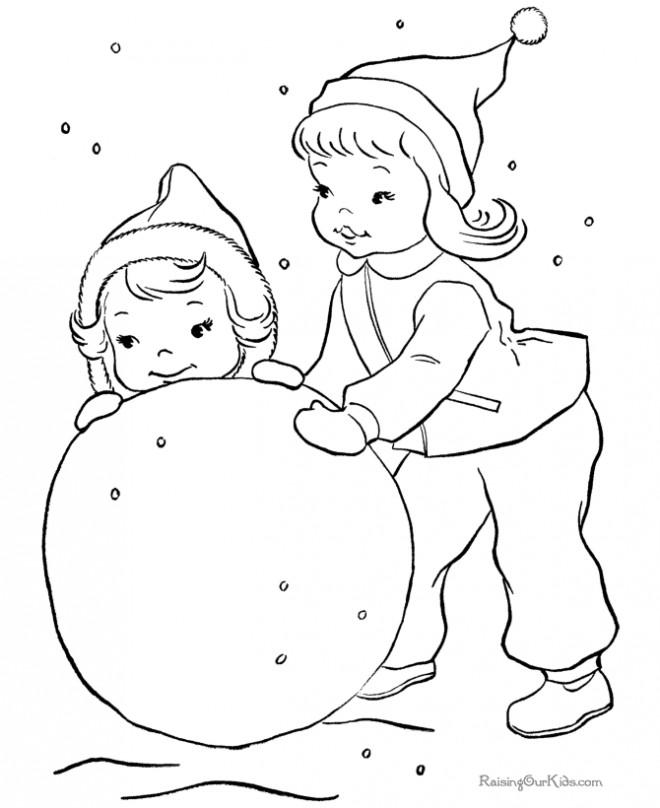 Coloriage et dessins gratuits Hiver Neige 33 à imprimer