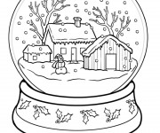 Coloriage Hiver Neige 36
