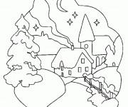 Coloriage et dessins gratuit Hiver Neige 37 à imprimer