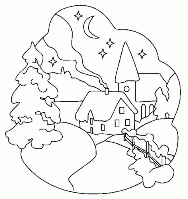 Coloriage et dessins gratuits Hiver Neige 37 à imprimer