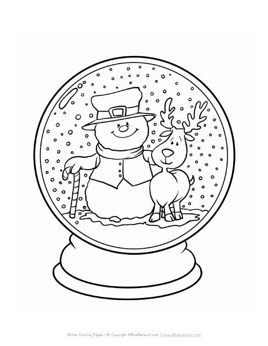 Coloriage et dessins gratuits Hiver Neige 41 à imprimer
