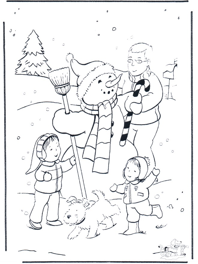 Coloriage et dessins gratuits Hiver Neige 42 à imprimer