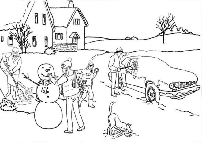 Coloriage et dessins gratuits Hiver Neige 43 à imprimer