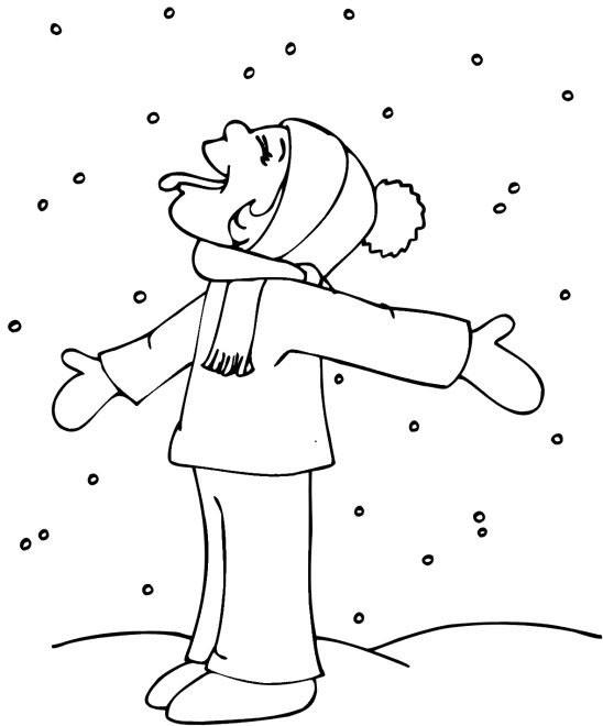 Coloriage et dessins gratuits Hiver Neige 50 à imprimer