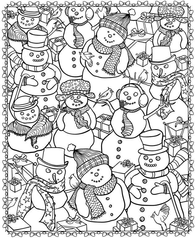 Coloriage et dessins gratuits Hiver Neige 52 à imprimer