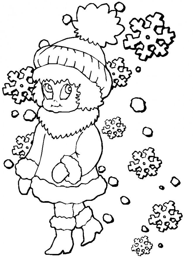 Coloriage et dessins gratuits Hiver Neige 54 à imprimer