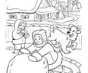 Coloriage Hiver Neige 8