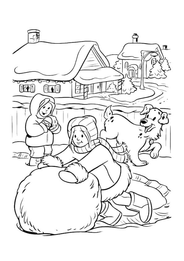 Coloriage et dessins gratuits Hiver Neige 8 à imprimer