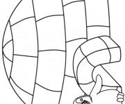 Coloriage et dessins gratuit Hiver Simple en noir à imprimer