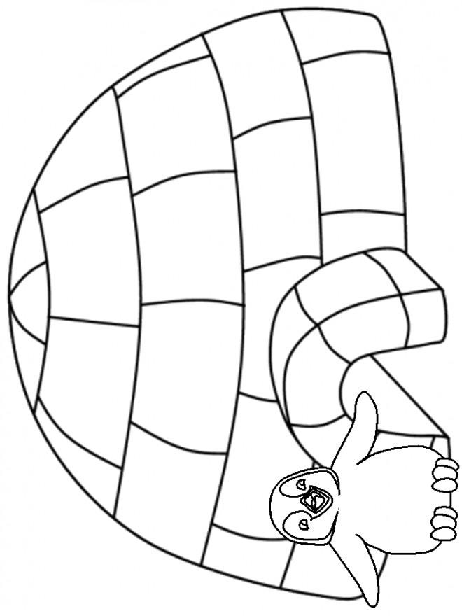 Coloriage et dessins gratuits Hiver Simple en noir à imprimer