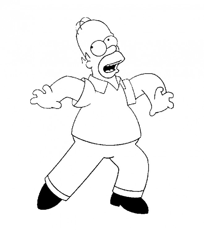 Coloriage homer amusant colorier dessin gratuit imprimer - Coloriage homer simpson ...