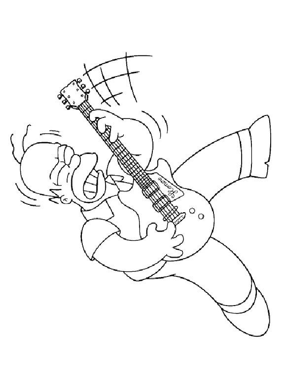 Coloriage et dessins gratuits Homer en couleur à imprimer