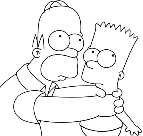 Coloriage homer et bart simpson dessin gratuit imprimer - Dessin homer simpson ...