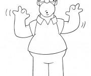 Coloriage et dessins gratuit Homer et ses grimaces drôles à imprimer