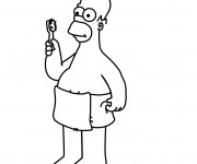 Coloriage dessin  Homer Simpson 14