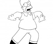 Coloriage dessin  Homer Simpson 8