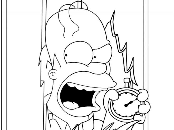 Coloriage et dessins gratuits Homer Simpson à découper à imprimer