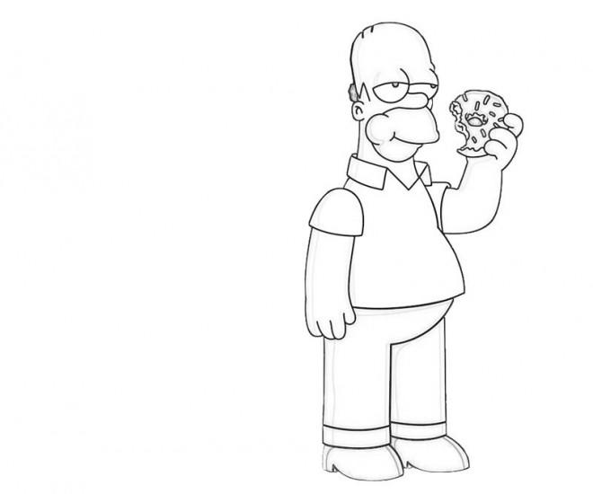 Coloriage Homer Simpson en Ligne dessin gratuit à imprimer