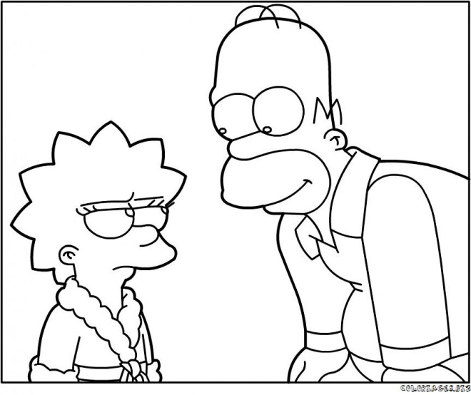 Coloriage homer simpson et sa fille liza dessin gratuit - Coloriage homer simpson ...