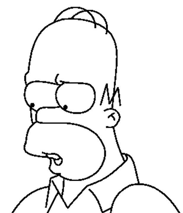 Coloriage Homer Simpson Et Son Regard Stupide Dessin Gratuit