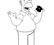 Coloriage Homer Simpson Facile Dessin Gratuit A Imprimer